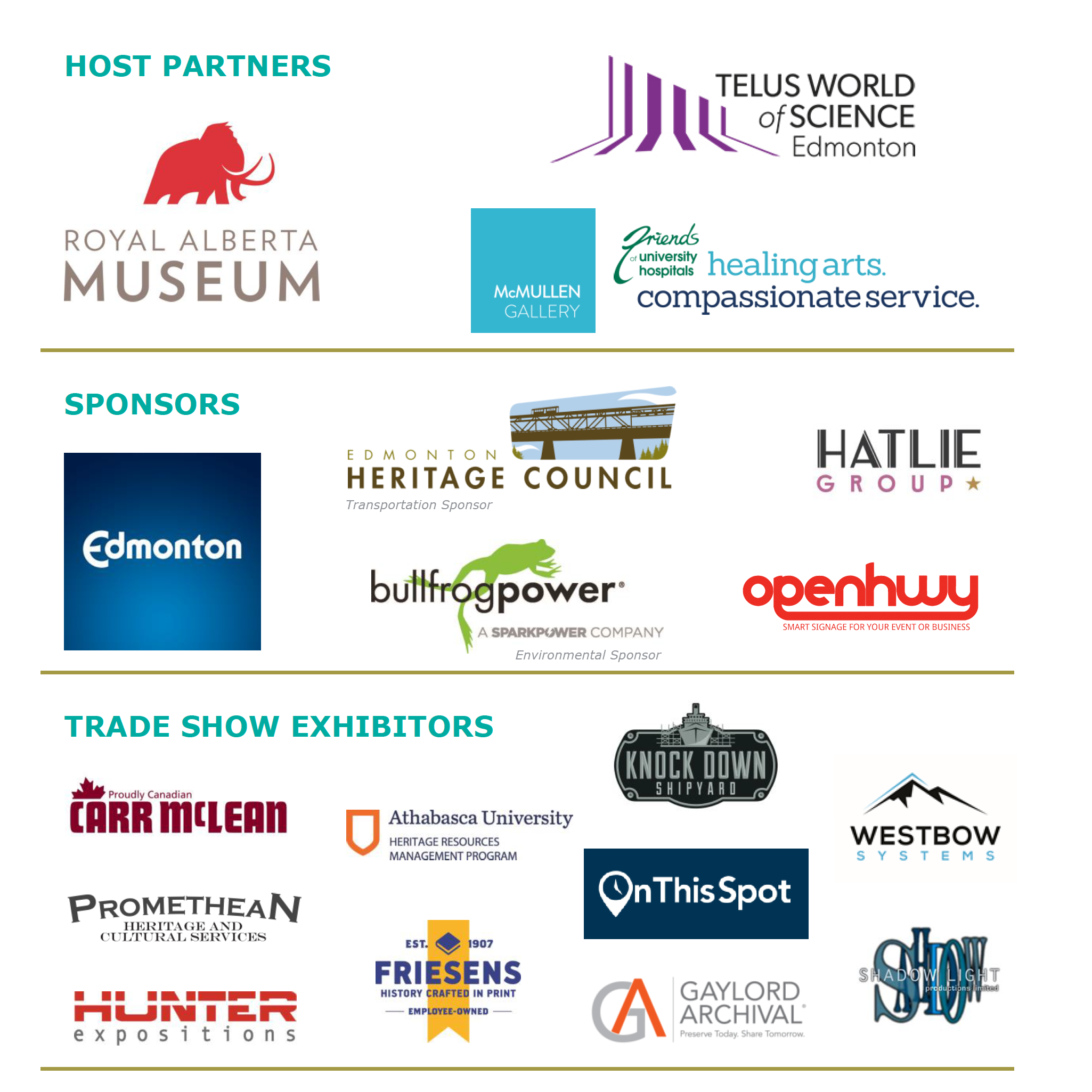 Host Partners Sponsors and Trade Show Exhibitors for AMA Conference 2019